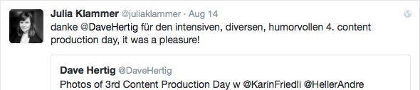 Tweet von Julia Klammer