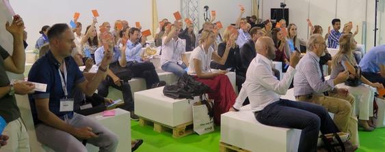 Publikum Gameshow Content Marketing von Dave Hertig (SuisseEmex 2015 Messe) 02