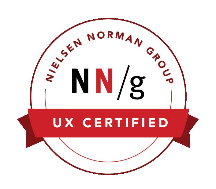 Dave Hertig UX Certified Badge by Nielsen Norman Group