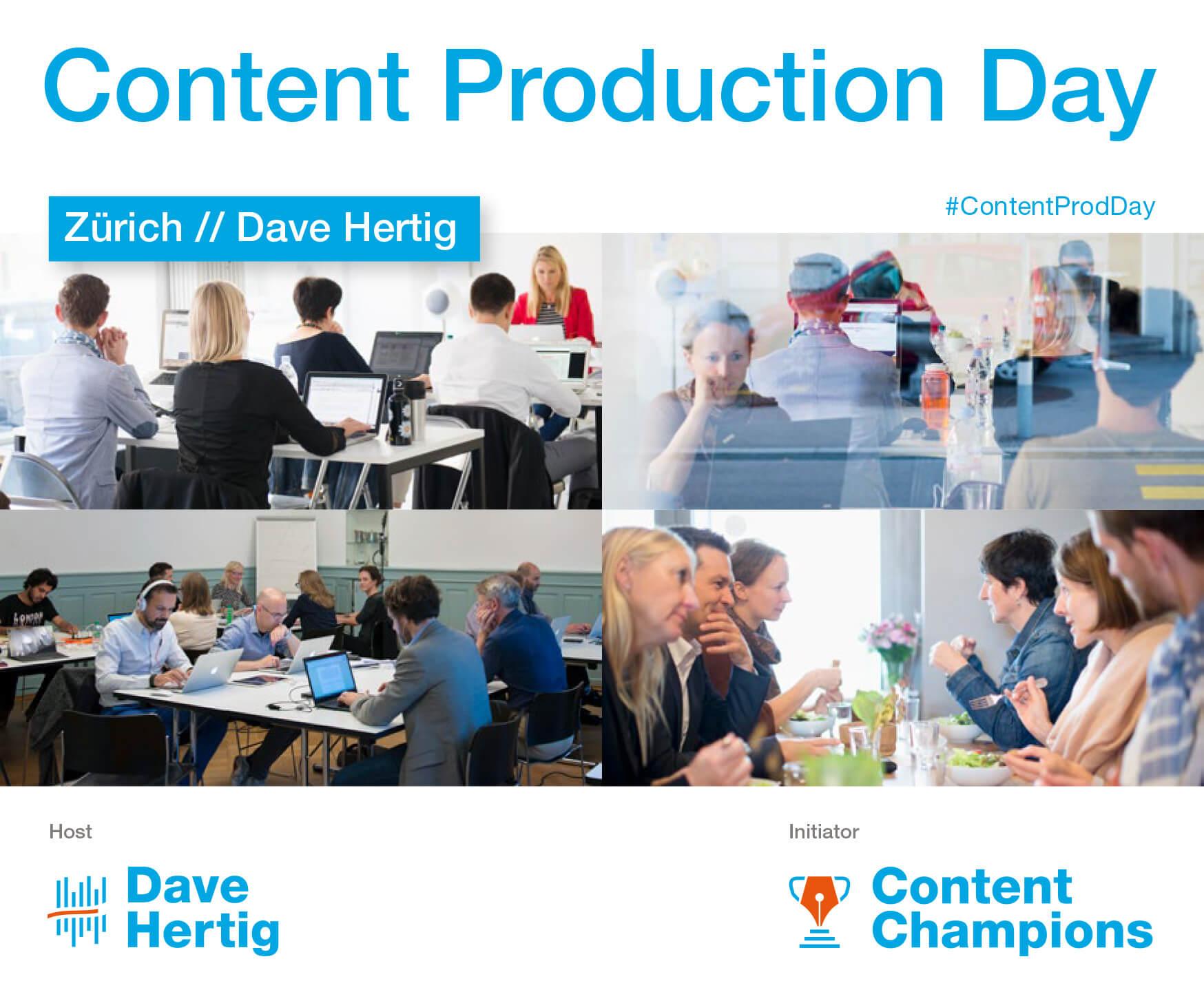 Content Production Day Zürich Dave Hertig > key visual